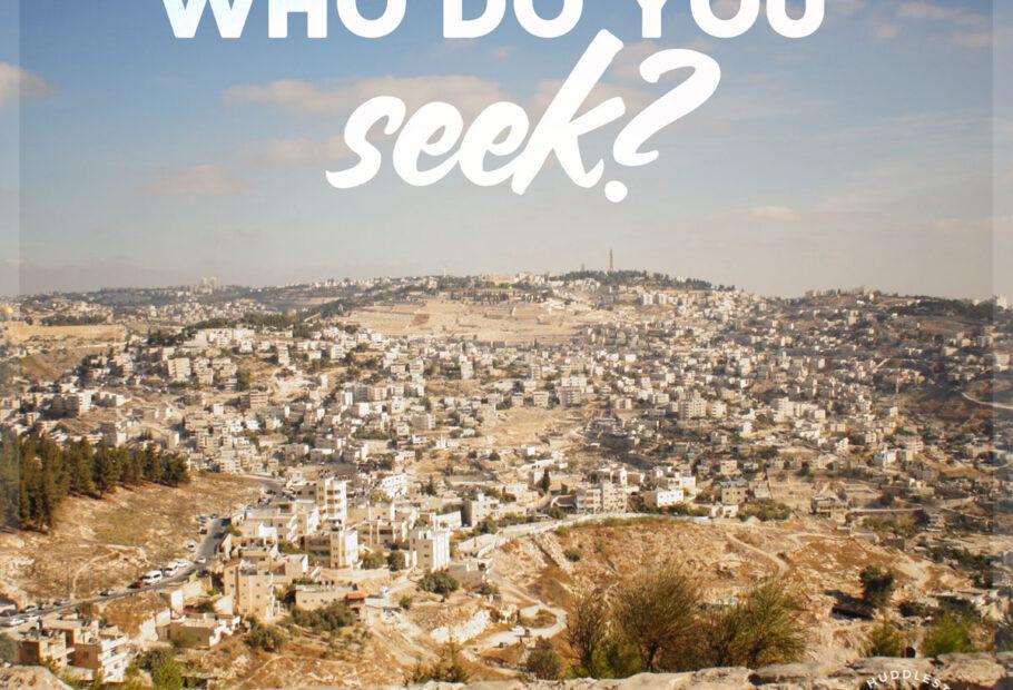 Who Do You Seek?